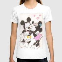 minnie T-shirts featuring Mickey & Minnie by karl oconnor