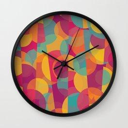 Abstract Circle Pattern - Colorful Dream Wall Clock