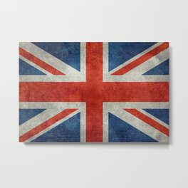 UK flag, High Quality bright retro style Metal Print