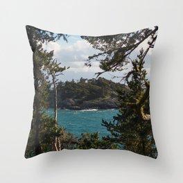 PORTRAIT OF SECRETARY ISLAND PT. II, SOUTH COAST VANCOUVER ISLAND Throw Pillow