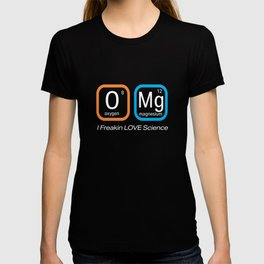 Top Fun Science Nerd OMG Love F ing Science Periodic Table Gift Design T-shirt