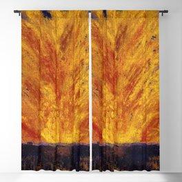 Fireworks portrait painting by James Ensor Blackout Curtain