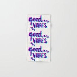 Good Vibes – Magenta & Cyan Hand & Bath Towel