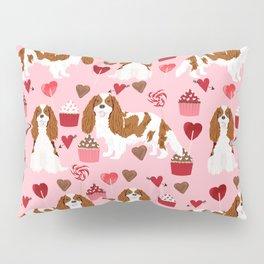 Cavalier King Charles Spaniel blenheim valentines day cupcake heart dog breed spaniels pet gifts Pillow Sham