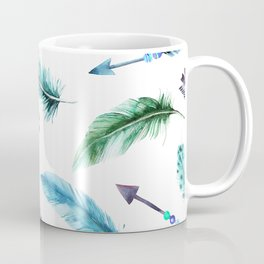 Autumn Hunt Arrows + Feathers Coffee Mug