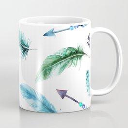 Autumn Hunt Arrows + Feathers Coffee Mug