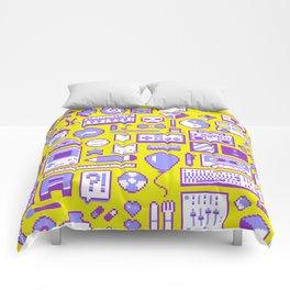 """""""Childhood Memories"""" pixel art poster Comforters"""