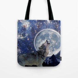 A One Wolf Moon Tote Bag
