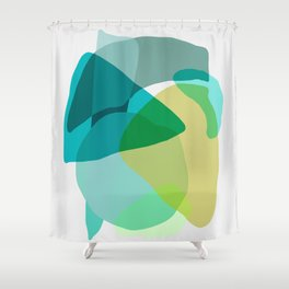 Shapes and Layers no.17 Shower Curtain