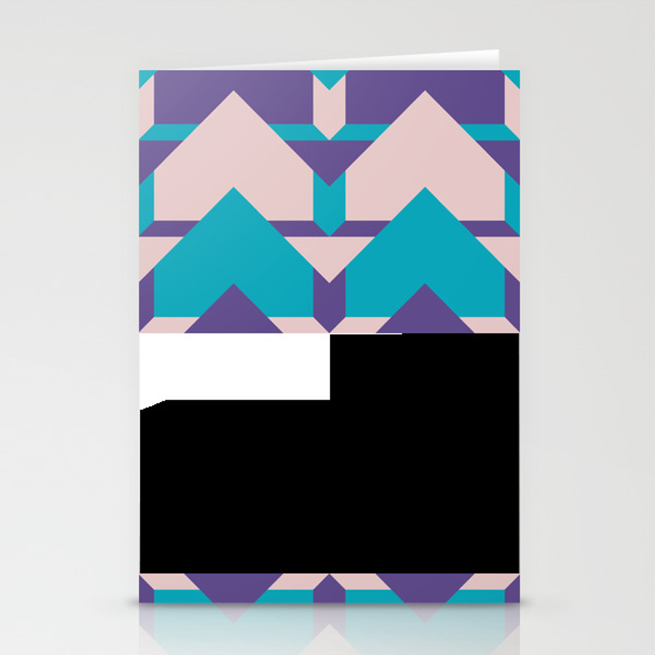 Glow Way #society6 #glow #pattern Stationery Cards by Designdn CRD8713512