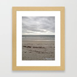 Cloudy Waters on the Sand Framed Art Print