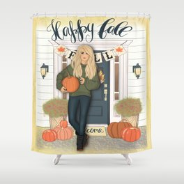 Happy Fall Scene Shower Curtain