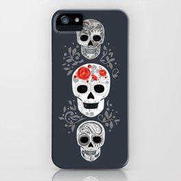 Celebracion de Gris_Calaveras Sugar Skulls line_RobinPickens iPhone Case