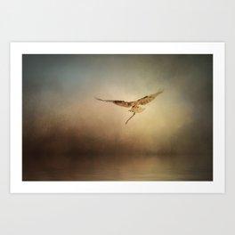 Nesting Osprey Art Print