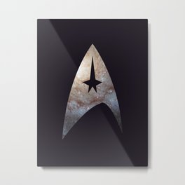 To Boldly Go: Galaxy Metal Print