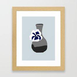 Vase with Pansy Framed Art Print