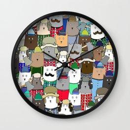 LumberCats Wall Clock