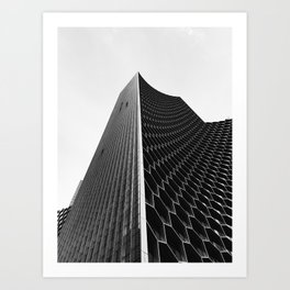 Pinnacle || black and white architecture photography || SINGAPORE Art Print