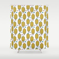 Pattern Project #37 / Sailor Dog Shower Curtain