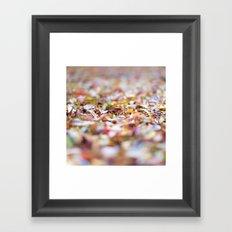 Summer Leaves Abstract Framed Art Print