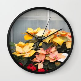 The Poinsettias  //  Euphorbia Pulcherrima Wall Clock