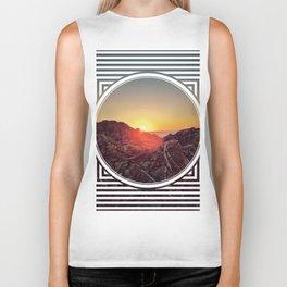 Peel Sunset  - line/circle graphic Biker Tank