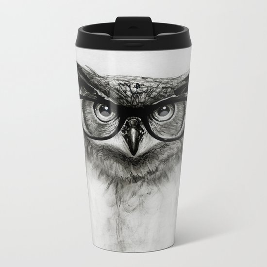 Mr. Owl Metal Travel Mug