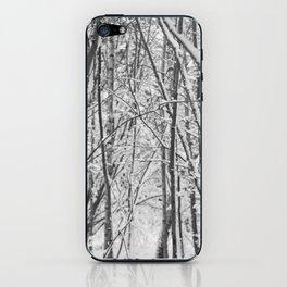Woodland snow iPhone Skin