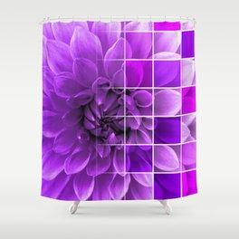 Chequered Flower design Shower Curtain