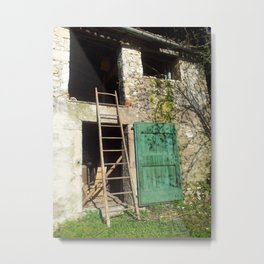 THE GREEN DOOR Metal Print