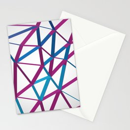 3D Futuristic GEO Lines Stationery Cards
