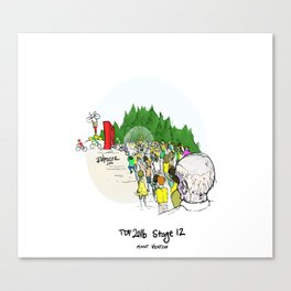 Zombies of Mont Ventoux Canvas Print