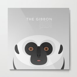 The Gibbon Metal Print
