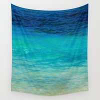 colombia Wall Tapestries featuring SEA BEAUTY by Catspaws