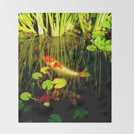 Koi in my Pond Throw Blanket