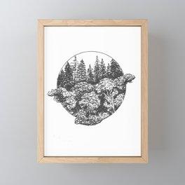 A Glimpse of Foliage Framed Mini Art Print