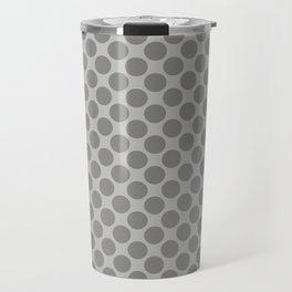 Benjamin Moore Cinder Dark Gray AF-705 Uniform Large Sized Polka Dots on Metropolitan COY 2019 Travel Mug