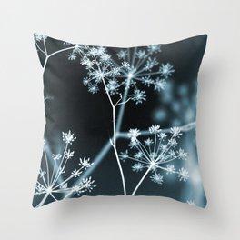 Dark Floral. Midnight Glow Throw Pillow