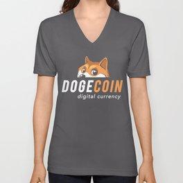 Dogecoin Nascar Unisex V-Neck