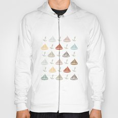 boats and anchors pattern Hoody
