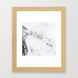 Gray Marble Framed Art Print