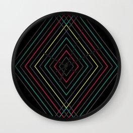 Neon Diamond Pattern Wall Clock
