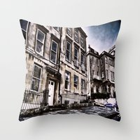 the neighbourhood Throw Pillows featuring Character Building I by JeraNour