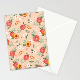 Peaches on Peach Stationery Cards