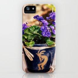 African violets & Kokopelli iPhone Case