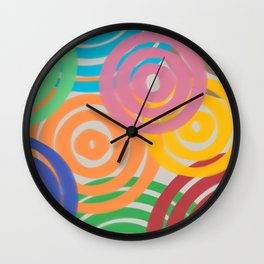 Rainbow Ripples Wall Clock