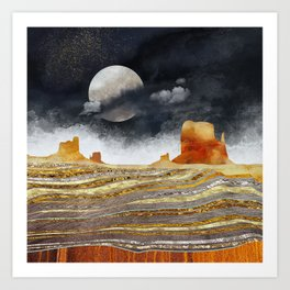Metallic Desert Art Print