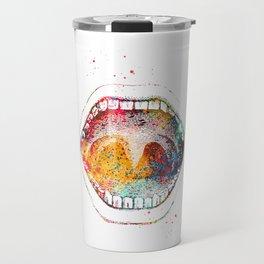 Human mouth Travel Mug