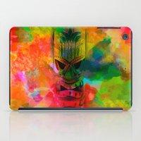 karu kara iPad Cases featuring Tiki Kara by Ionic Slasher
