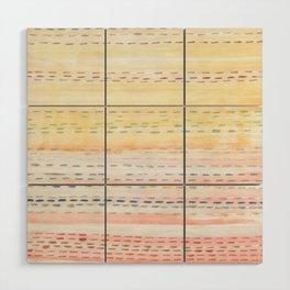 Sunset Stitch Wood Wall Art